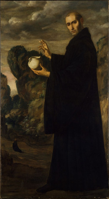 Francisco de Zurbaran. St. Benedict Of Nursia