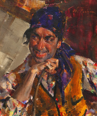 Nikolay Feshin. Antonio Triana in the image of a gypsy