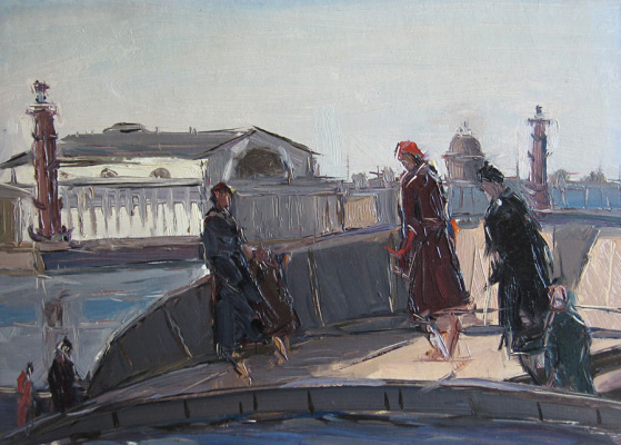 Arseniy Nikiforovich Semenov. On the Neva Embankment.