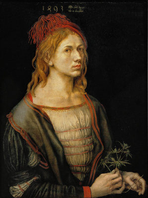 Albrecht Durer. Self-portrait with Holly (self Portrait with a Thistle)