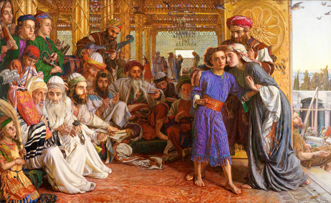 William Holman Hunt. The finding of the Saviour in the temple
