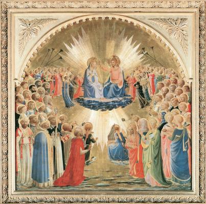Фра Беато Анджелико. Алтарь Коронование Девы Марии. 1434–1435