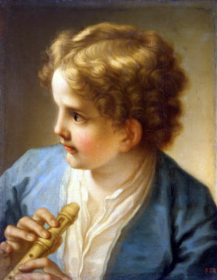 Бенедетто Лути. Мальчик с флейтой