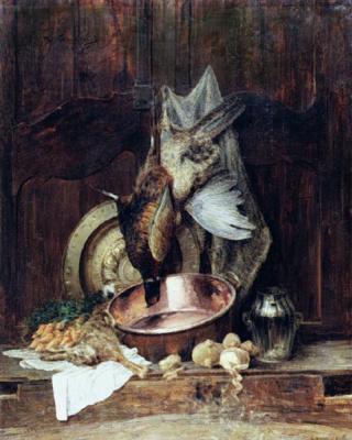 Alexey Petrovich Bogolyubov. Pheasants and a hare