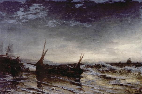 Alexey Petrovich Bogolyubov. Pulling the boat