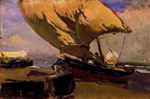 Хоакин Соролья (Соройя). Рыбацкие лодки