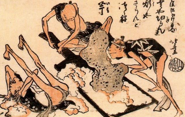 Кацусика Хокусай. Копание ямы