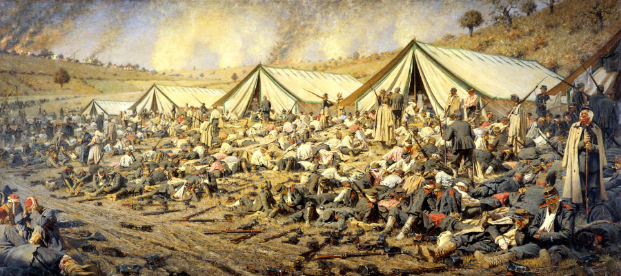 Vasily Vereshchagin. After the attack