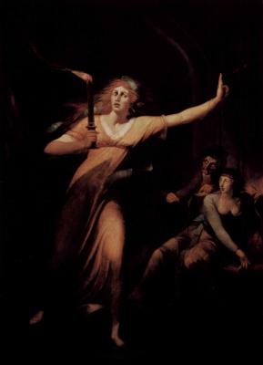Johann Heinrich Fuessli. Lady Macbeth, wandering in a dream