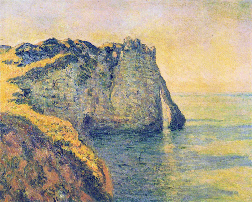 Claude Monet. Rocks in Port d Aval