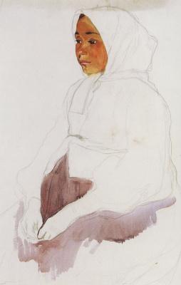 Zinaida Serebryakova. The peasant girl. Etude