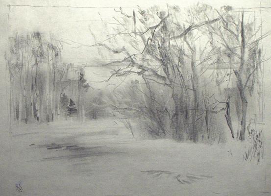 Oleg Borisovich Zakharov. Print in the snow.