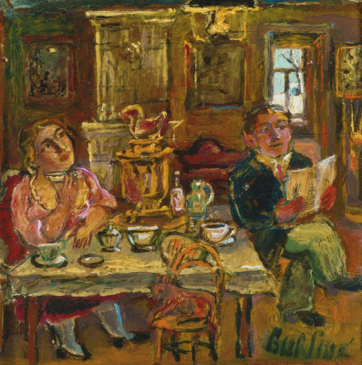 David Davidovich Burliuk. The tea party