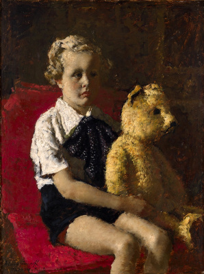 Alexey Vladimirovich Isupov. Boy with a teddy bear.