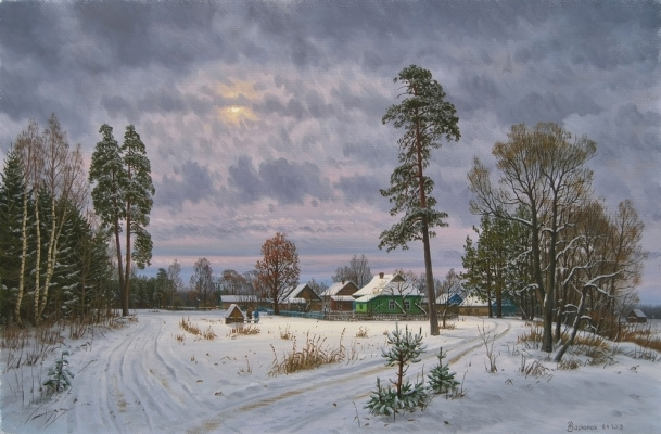 Alexander Vasilyevich Zoryukov. Provincial winter