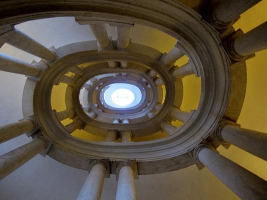 Francesco Borromini. Staircase at the Palazzo Barberini