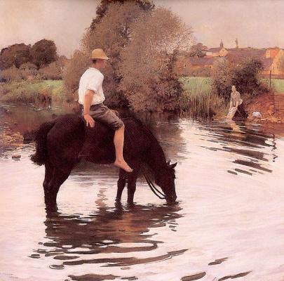 Жюль-Алексис Мунье. Черный конь