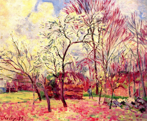 Alfred Sisley. The first day of spring