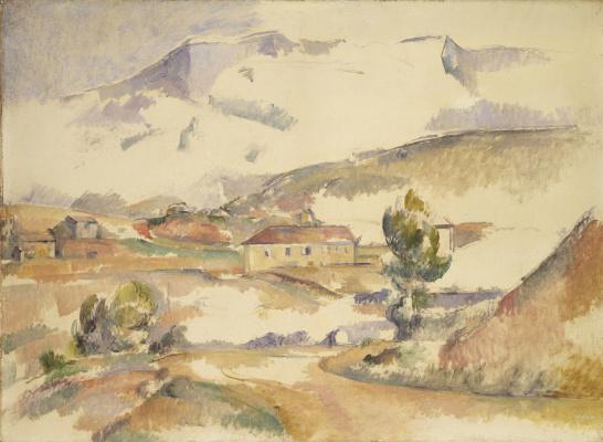 Поль Сезанн. Гора Сент-Виктуар, увиденная с моста Байе в Мерей