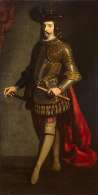 Francisco de Zurbaran. Portrait of the commander