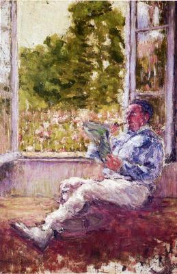 Marcel Duchamp. The man sitting by the window