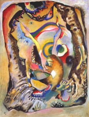 Wassily Kandinsky. Painting on a light background