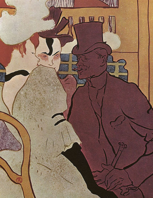 Henri de Toulouse-Lautrec. The Englishman at the Moulin Rouge