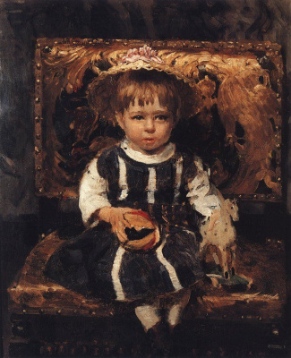 Ilya Efimovich Repin. Portrait of V. I. Repina in childhood