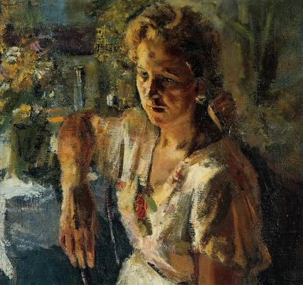 Heliy Mikhailovich Korzhev. Portrait of a girl