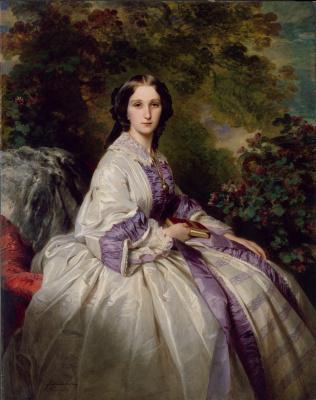Franz Xaver Winterhalter. Countess Maria Ivanovna Beck, wife of Alexander Nikolayevich Lamsdorf
