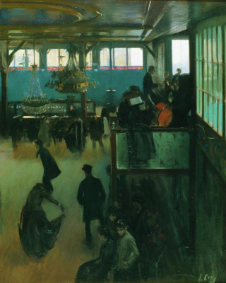 Ramon Casas i Carbó. Ball in Moulin de la Galette