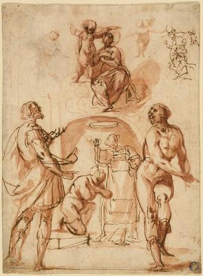 Джованни Бальоне (Баглионе). Дева Мария с младенцем и святыми