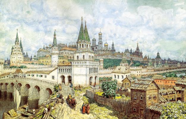 Расцвет Кремля. Всехсвятский мост и Кремль