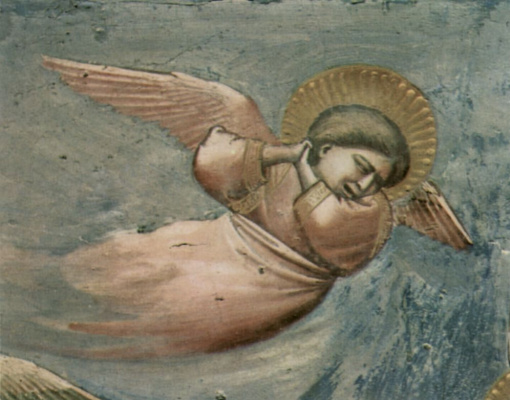 Giotto di Bondone. Lamentation of Christ. Scenes from the life of Christ. Fragment