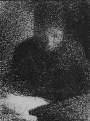 Georges Seurat. A woman reading