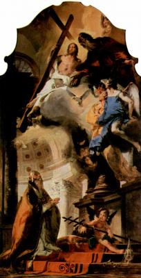 Джованни Баттиста Тьеполо. Папа Климент I, молящийся Троице