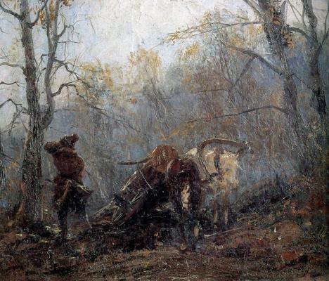 Константин Аполлонович Савицкий. Осень в лесу. Досада мужика