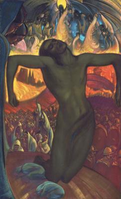 Святослав Николаевич Рерих. Распятое человечество. Центральная часть одноименного триптиха