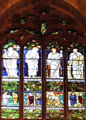 Уильям Моррис. Окно четырех святых: Ной, Моисей, Даниил и Павел