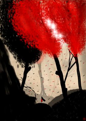 Dream Fox Arts. Ruby Forest