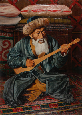 Abylkhan Kasteevich Kasteev. Portrait of the national akyn Zhambyl
