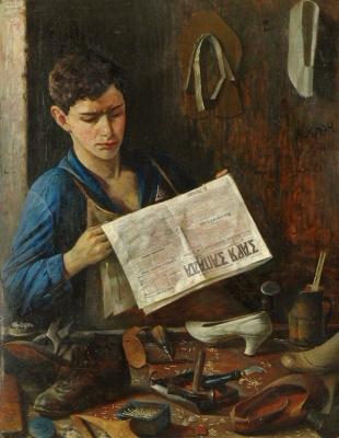 Юдель Пэн. Комсомолец, читающий газету