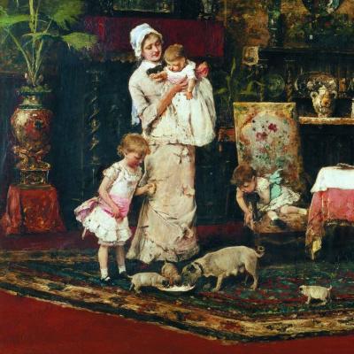 Михай Либ Мункачи. Две семьи. Фрагмент