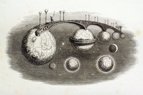 "Jean Inias Isidore (Gerard) Granville. Journey through the Universes. A series of ""Other World"""