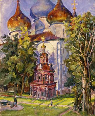 Александр Александрович Осмеркин. Кладезная Троице-Сергиевой лавры. 1945