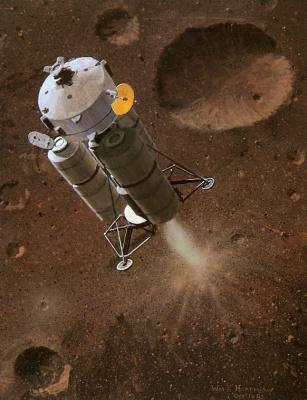 William Hartmann. Landing on Phobos