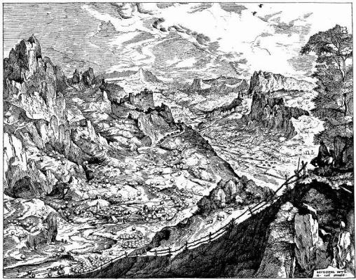 """Альпийский пейзаж. Серия """"Большие пейзажи"""""""