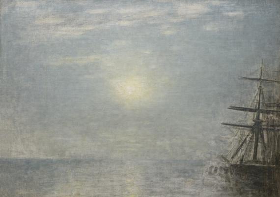 Vilhelm Hammershøi. Sun over the sea