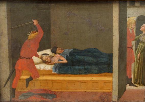 Tommaso Masaccio. Life of St. Julian. Pizansky polyptych