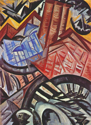 Olga Vladimirovna Rozanova. Factory and bridge